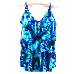 Aqua Green Women's Tankini Swim Top